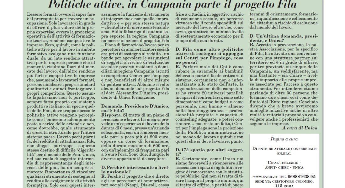 politiche attive_ in Campania parte il progetto Fila
