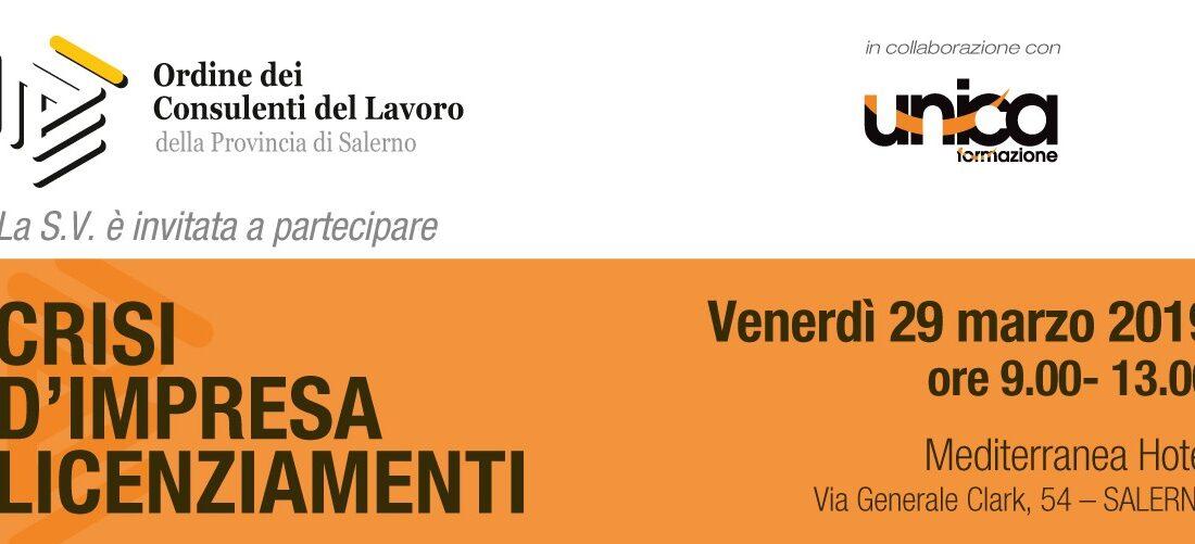 crisi azienda e licenziamenti_ convegno Salerno